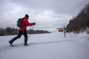 Skiing the Foxy Brown trail