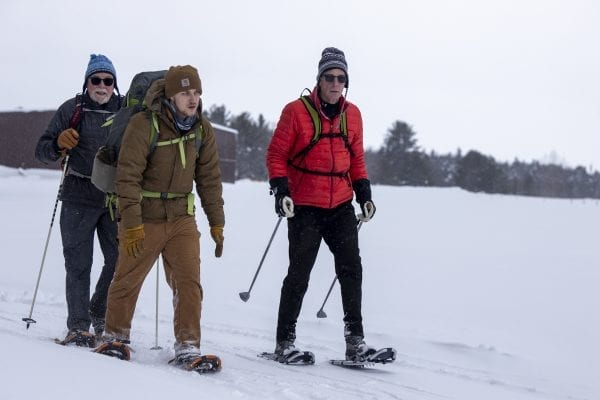 Nick Addison, middle, is a state Department of Environmental Conservation natural resources planner who worked on the trail. Photo by Mike Lynch