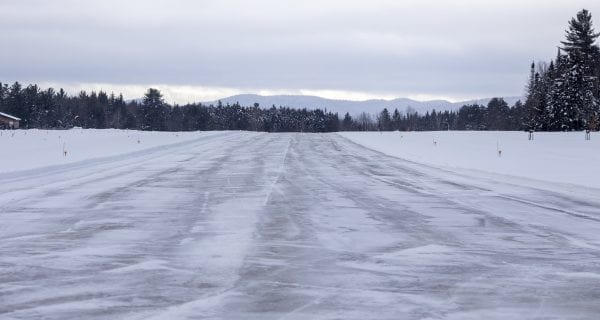 A look down the Piseco Airport runway. Photo by Mike Lynch