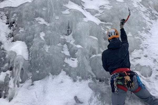 Jacob Furr ice climbing