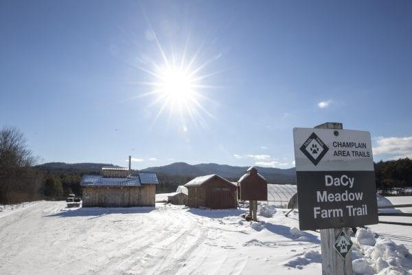 The Dacy Meadow Farm trailhead. Photo by Mike Lynch