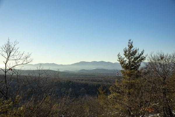A view of the High Peaks from North Boquet Mountain. Photo by Mike Lynch