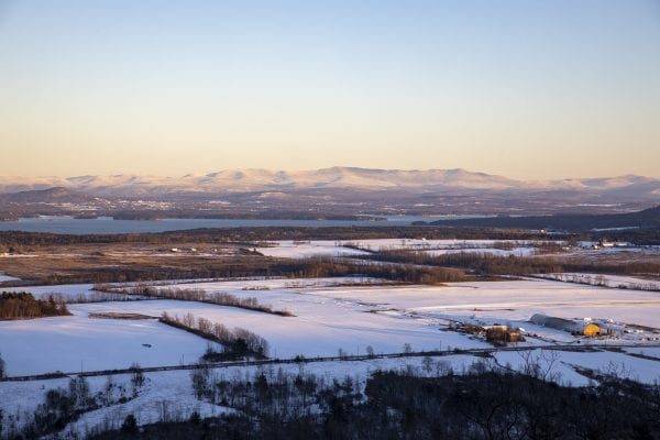 A view of the Champlain Valley and Green Mountains from North Boquet Mountain. Photo by Mike Lynch