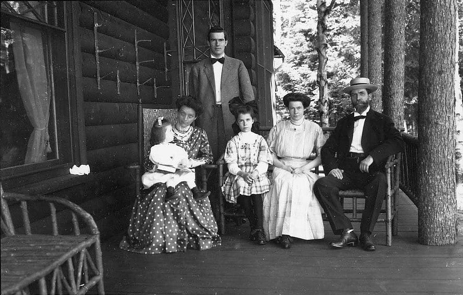 Hughes and his family in the Adirondacks