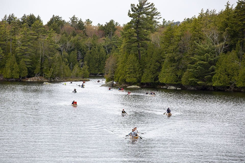 Round the Mountain canoe and kayak race. Photo by Mike Lynch