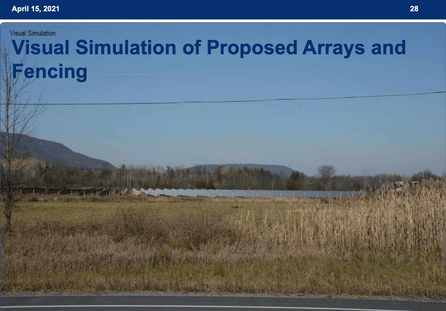 APA visual simulation of Ti solar project