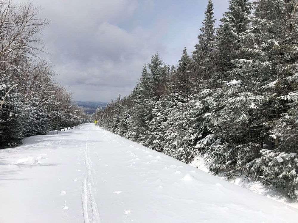 whiteface memorial highway in winter