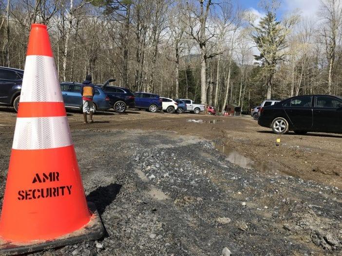 Adirondack Mountain Reserve's hiker parking lot