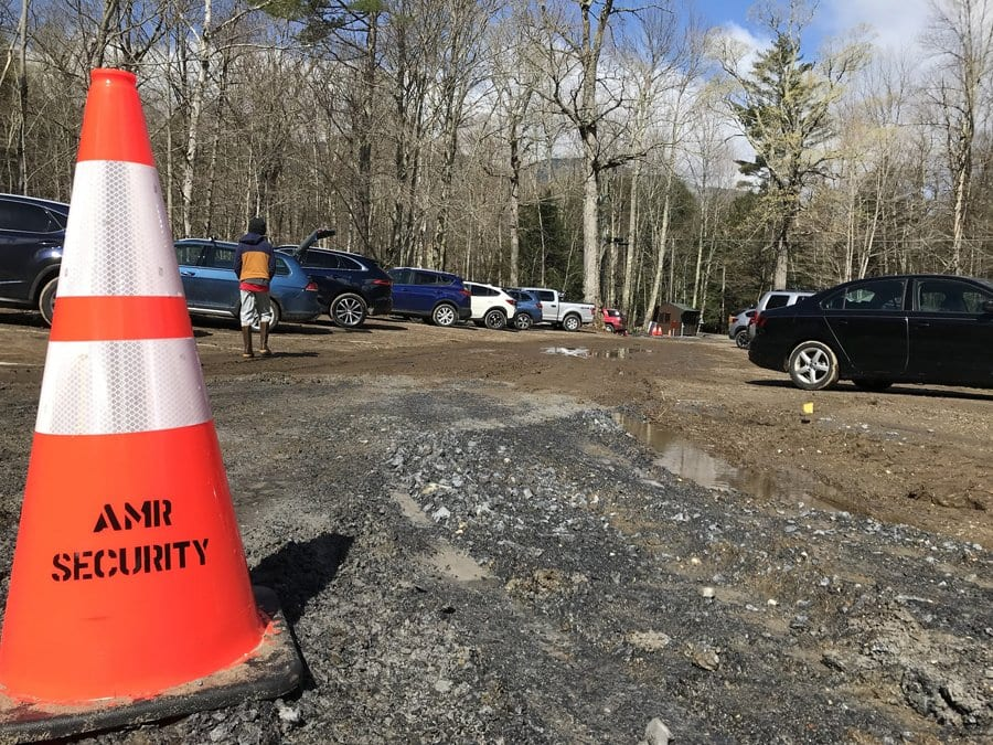 Adirondack Mountain Reserve's hiker parking lot