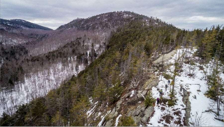 Huckleberry Mountain in winter