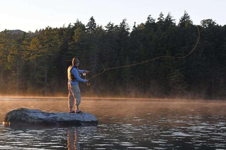 fishing at st regis pond