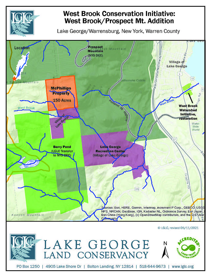 lake george land conservancy's prospect mountain addition