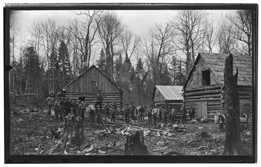 lumberjacks in 1886