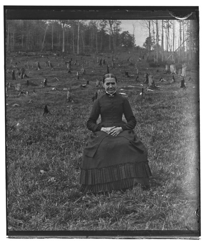 Photo of woman from 1886