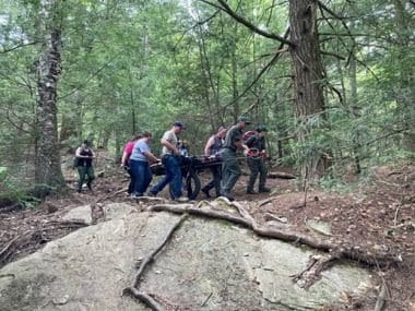 Rangers rescue hiker from Lake George Wild Forest Area