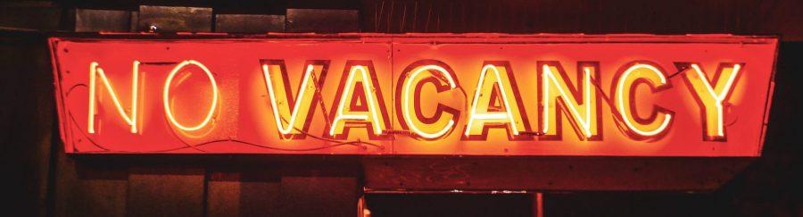 no vacancy, no rental sign