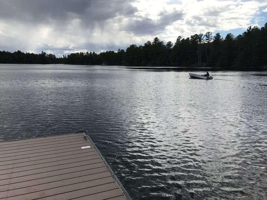 Upper Saranac Lake boater.