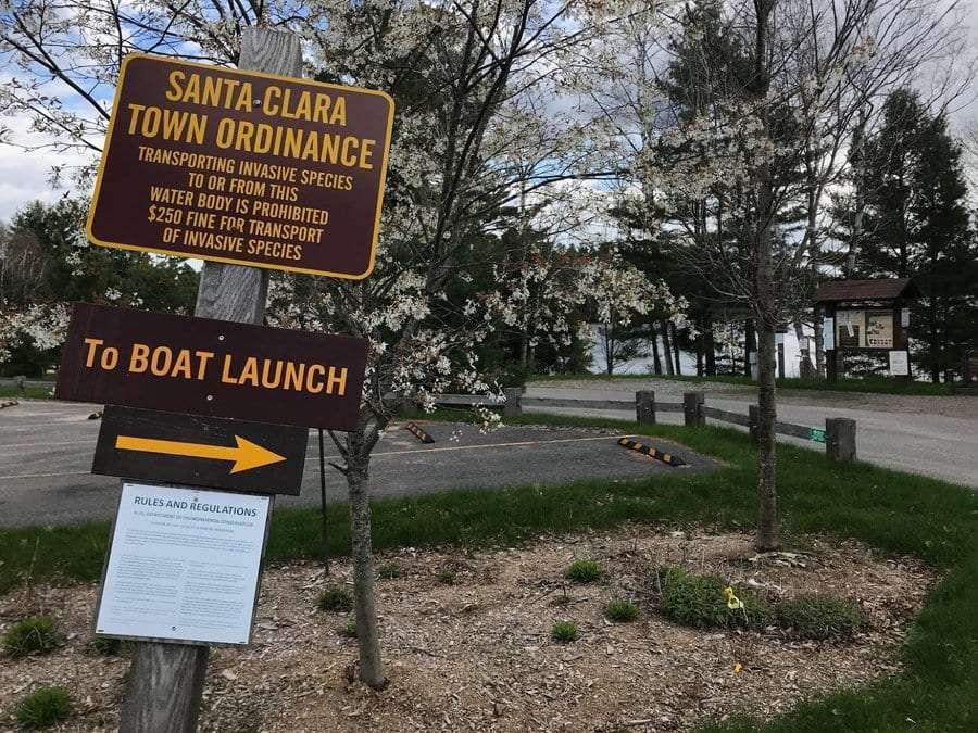 Santa Clara's boat launch on Upper Saranac Lake.