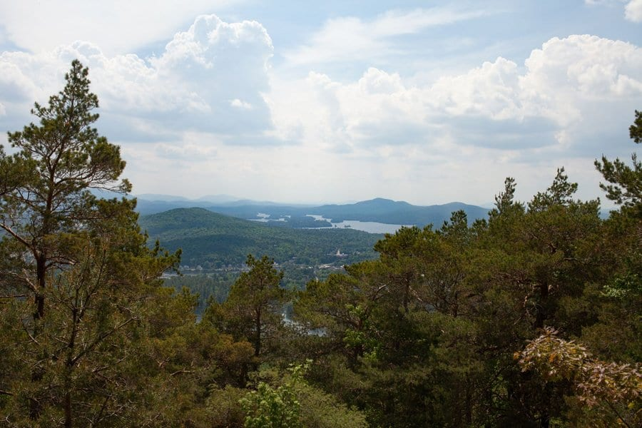 The view from atop Baker Mountain.