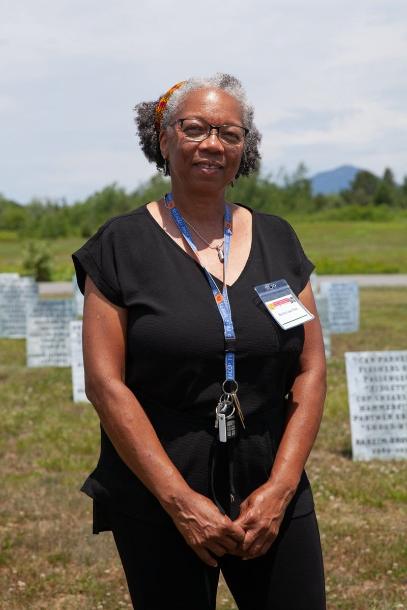 Benita Law-Diao at the Memorial Field for Black Lives.