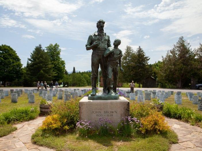 John Brown's memorial near Lake Placid.