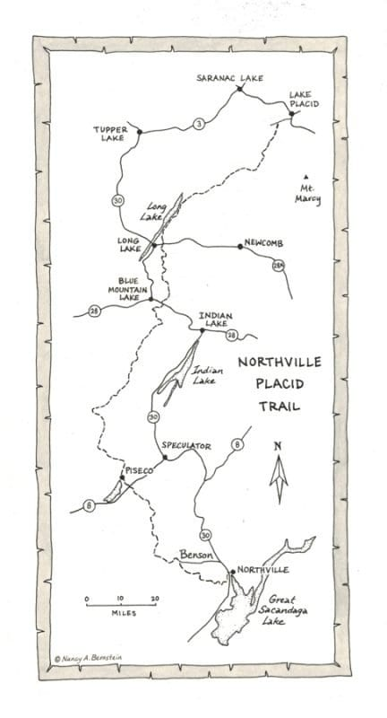 Northville-Placid Trail NPT map