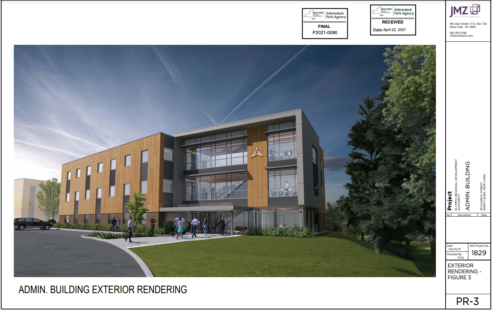 A proposed ORDA office building is up for public comment