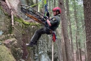 Rangers take part in technical rope training