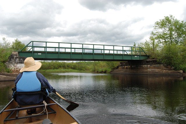 Bridge along New York and Ottawa railbed.