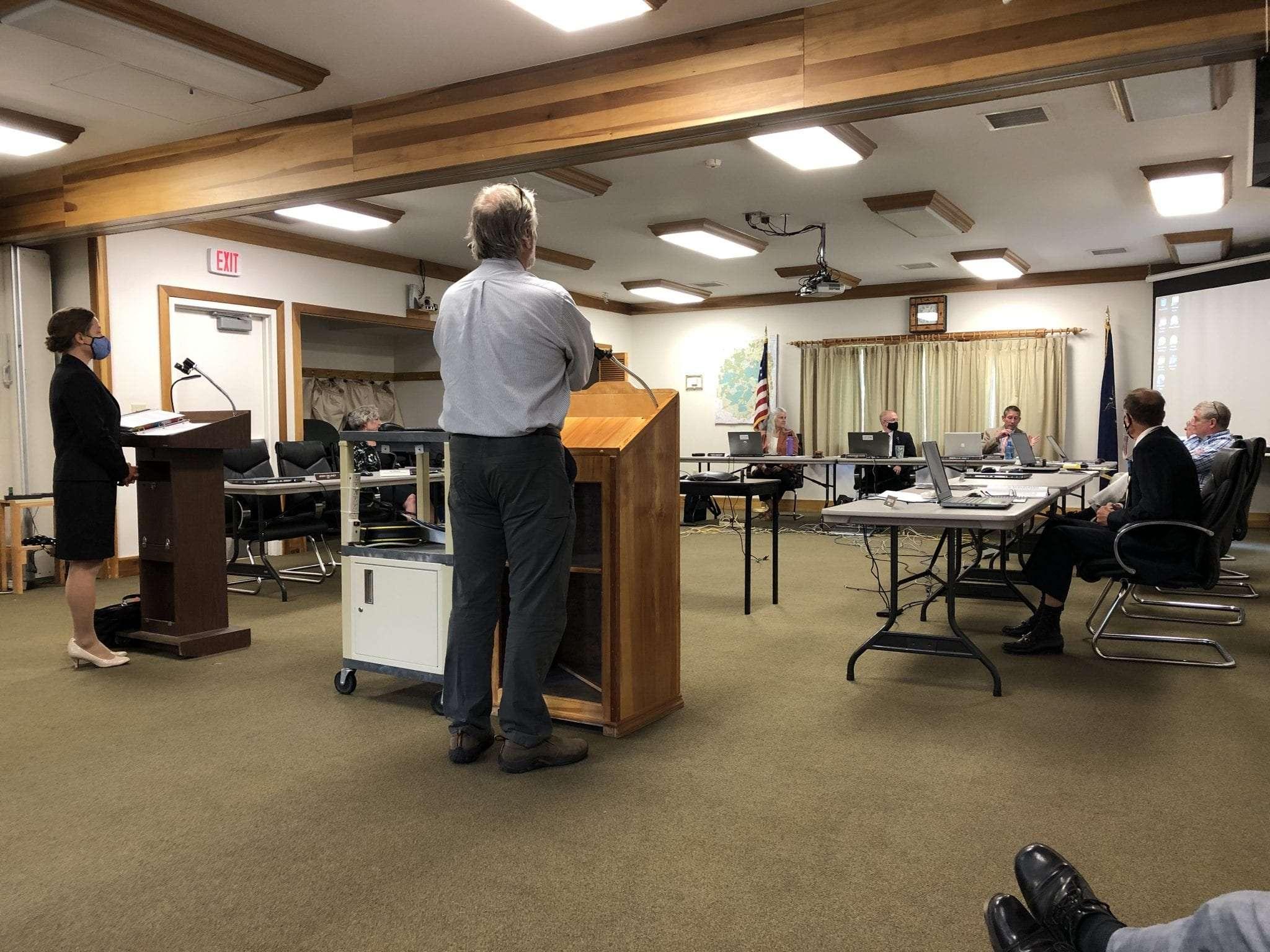 APA board meeting's enforcement hearing
