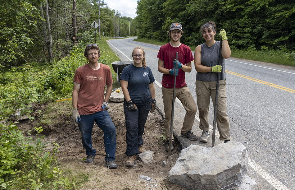 The Northern Forest Canoe Trail stewardship crew. Photo by Mike Lynch