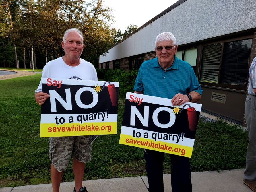 White Lake Quarry protesters