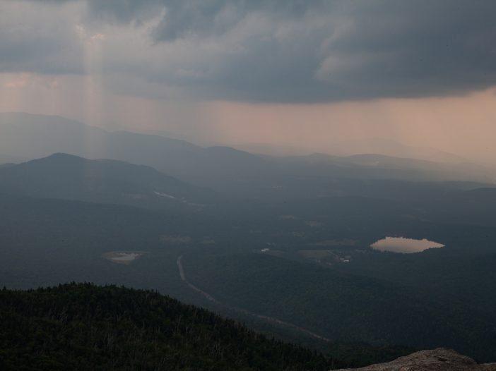 Rainstorm viewed from Cascade Mountain.