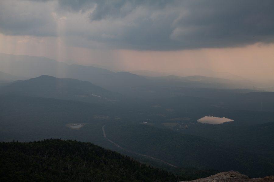 Rain storm viewed from Cascade Mountain.