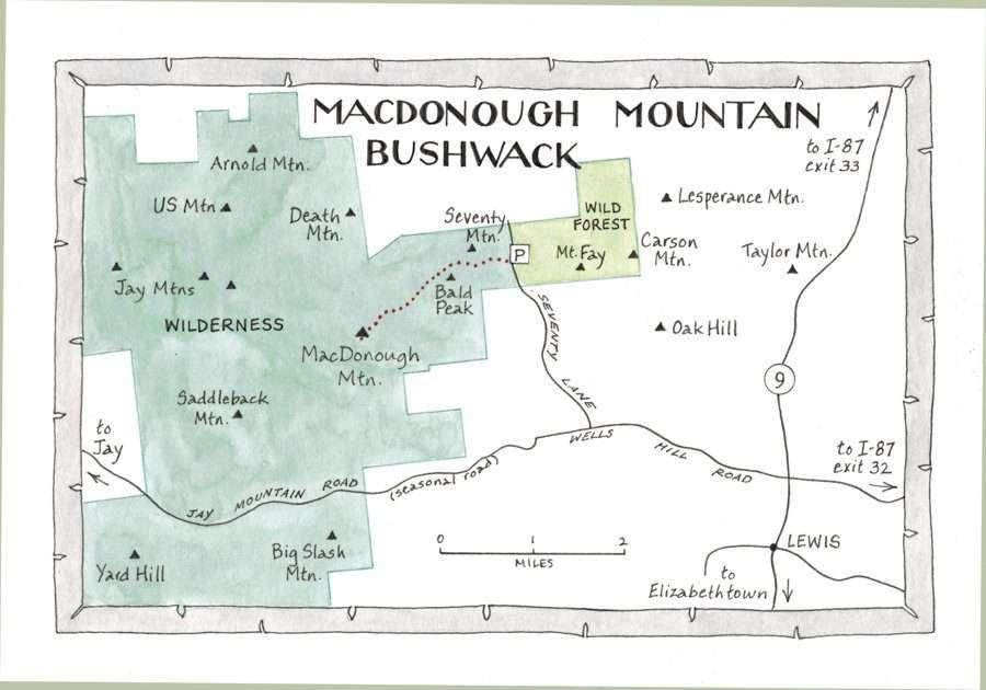 Macdonough Mountain map