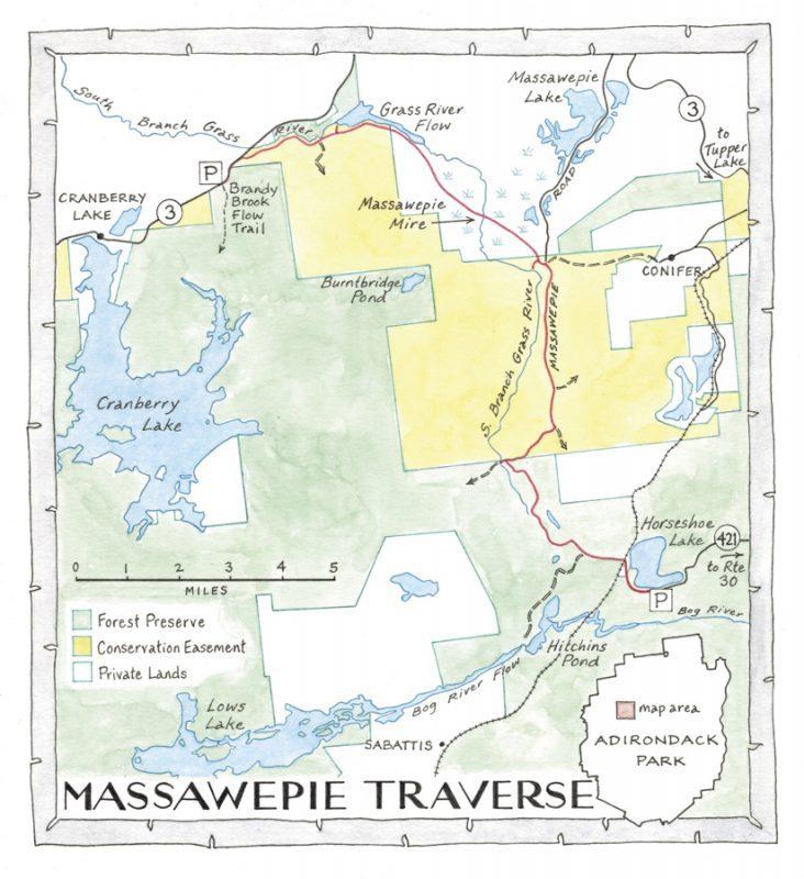 massawepie and grass river map