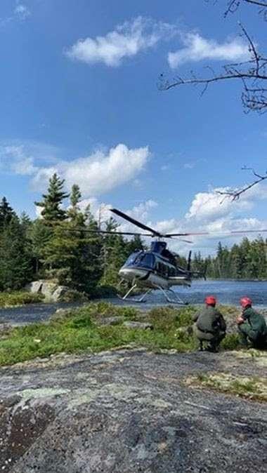 Hiker rescued near Crane Pond