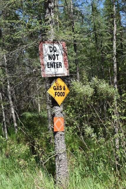 grasse river trail sign