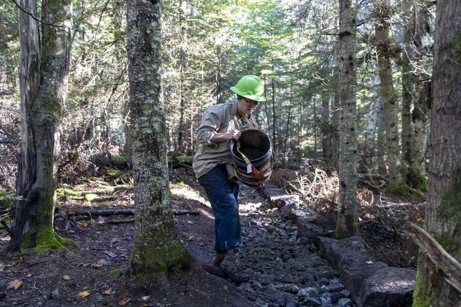 mount van hoevenberg trail work