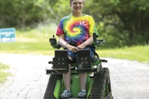 Disabled teen finds ways to get outside