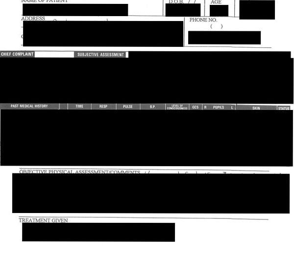 redacted records