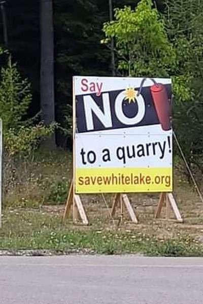 anti-quarry sign