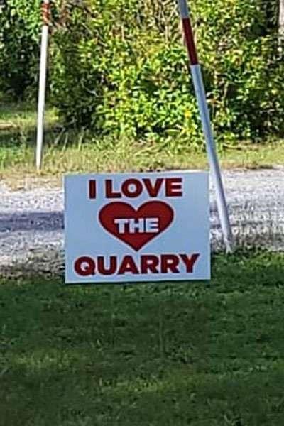 pro-quarry sign