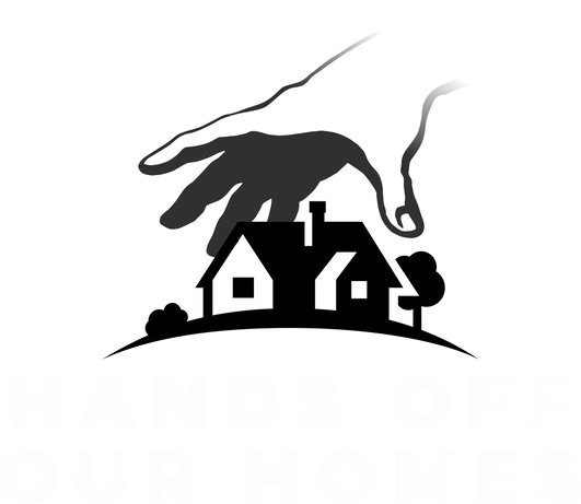 hands off our homes logo